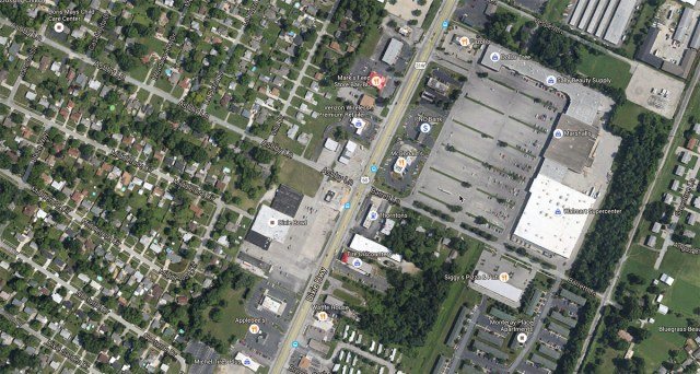 The area is dominated by residential neighborhoods and commercial shopping. (Courtesy Google)