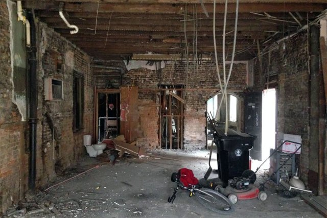 Inside 1155 South Shelby Street while it was under renovation in October 2015. (Branden Klayko / Broken Sidewalk)