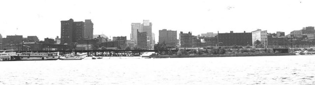 Louisville's skyline before urban renewal. (Courtesy Metro Archives)