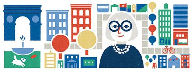 A Google doodle celebrating Jane Jacobs's birthday. (Courtesy Google)