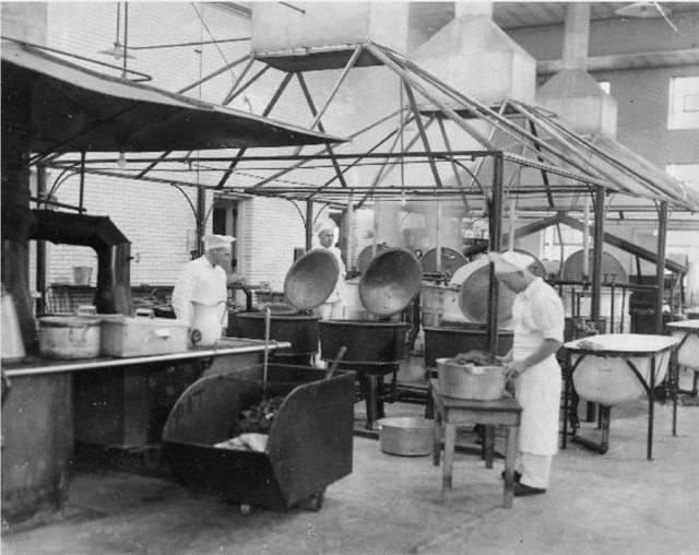 Kitchen at Central State Hospital, circa 1933. (Courtesy UL Archives - Reference)