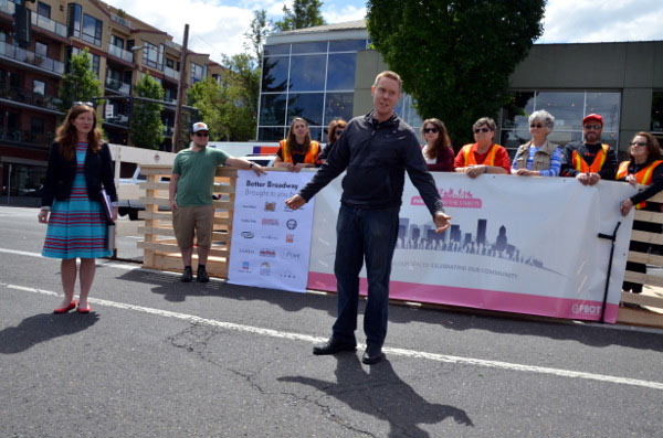 Mike Chronister of Kitchen Kaboodle and the Northeast Broadway Business Association. (Courtesy PeopleForBikes)
