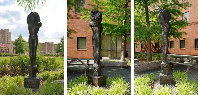 "Reg Butler's ""The Bride"" today stands next to the Metro Development Center on Fifth Street. (Courtesy Metro Louisville)"