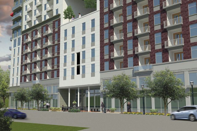 JDG's building as it meets the sidewalk. (Courtesy JDG / TBD+)