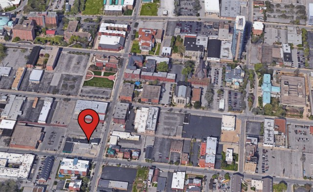 The site of the Puritan Building in the larger context of SoBro. (Courtesy Google)