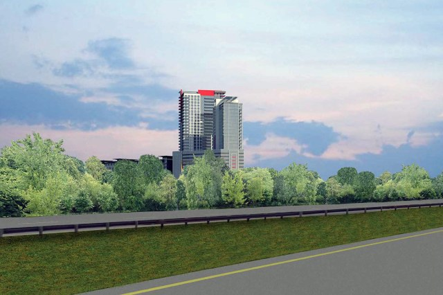 A view of the project from westbound Interstate 64. (Courtesy JDG / TBD+)
