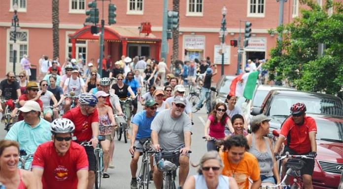 A bike ride through New Orleans. (Courtesy Bike Easy)