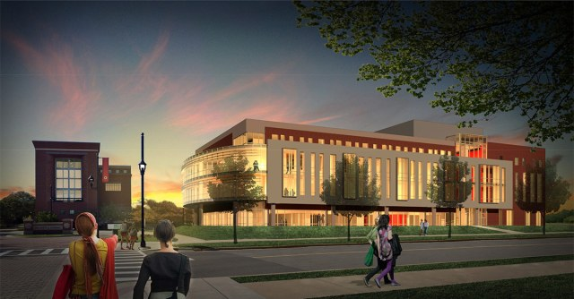 Rendering of the new academic building to be built on the site of Crawford Gym. (Courtesy UL)