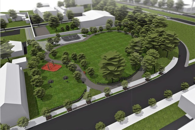 Rendering of the future Story Avenue Park. (Courtesy Urban Design Studio)