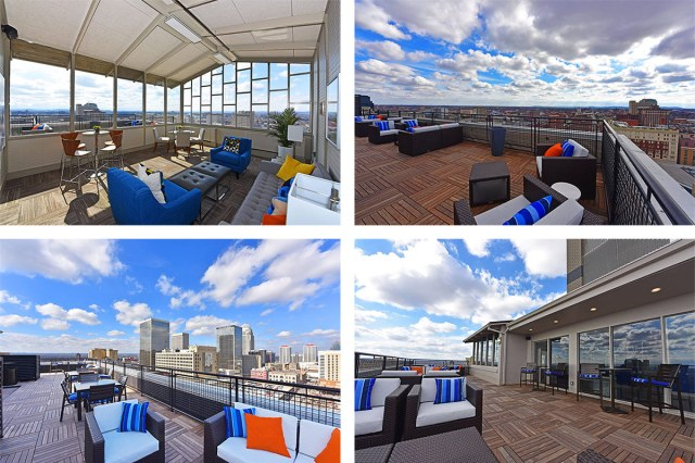 The rooftop terrace and common room at the Vue on Third. (Courtesy Vue on Third)