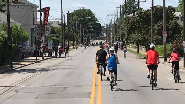 Riding on Goss Avenue has never been this peaceful. (Courtesy Louisville Forward)