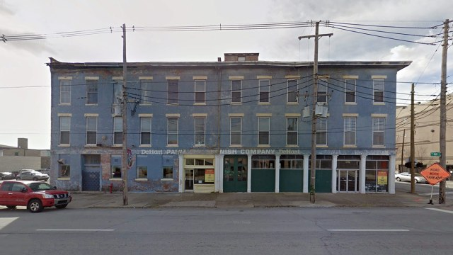 The DeHart Paint Company Main Street facade. (Google Street View)