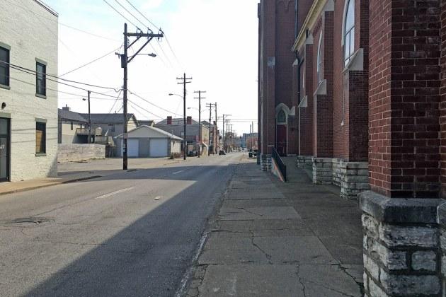 Standard conditions in the Logan and Oak street area. (Branden Klayko / Broken Sidewalk)