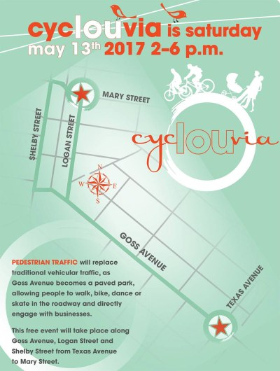 CycLOUvia Three Points route. (Courtesy Louisville Forward)