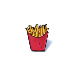 enamel pin, cute French fries