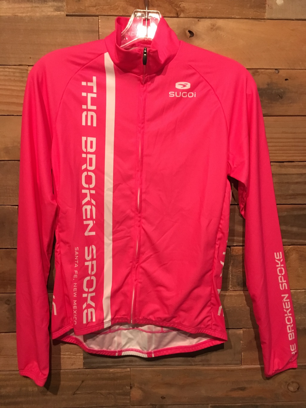 Sugoi Broken Spoke Long Sleeve Pink Jersey Women's