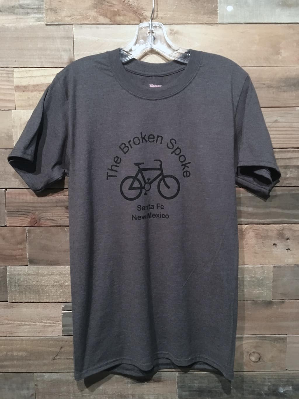 Men's Broken Spoke T Shirt Logo Front Charcoal w/ Black