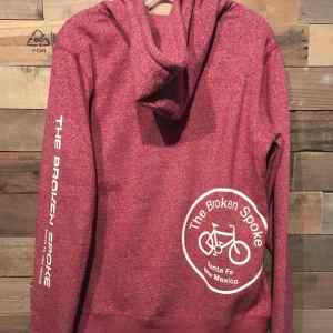 Broken Spoke Ladie's Full Zip Hoodie Red