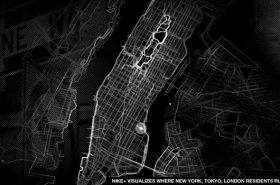 New Nike+ City Runs Projects Running Routes Around NYC Neighborhoods