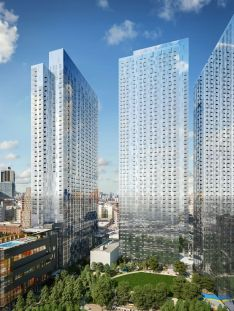 Tishman Speyer's Jackson Park Exterior Rendering. Photo Via Tishman Speyer