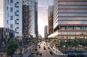 Residential tower at 28-10 Jackson Avenue - Left   Commercial tower at 28-07 Jackson Avenue - Right Photo Via Tishman Speyer