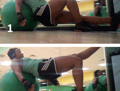 Single-Leg S. Ball Hip Thrusts