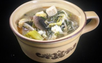 Miso Soup with Mustard Greens Will Warm Your Soul