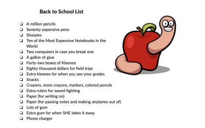 Supply List 101: Guide for Parents & Teachers to Avoid Going Insane