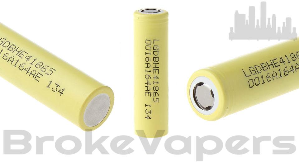 Authentic LG HE4 2500mAh 18650 Batteries