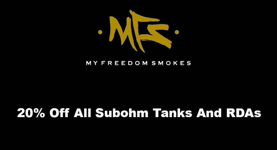20% Off All Subohm Tanks And RDAs