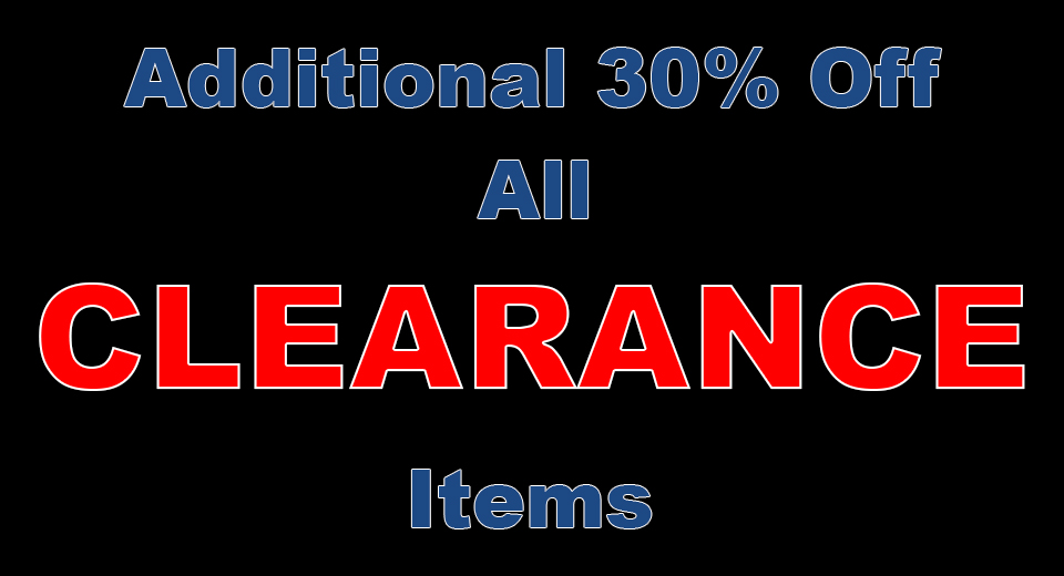 Additional 30% off clearance items