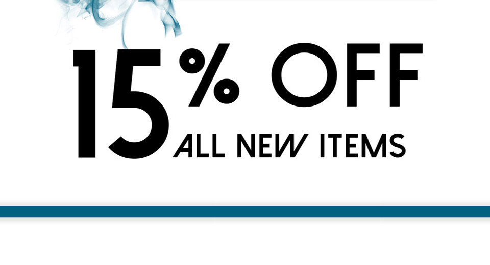 15% Off All New Items