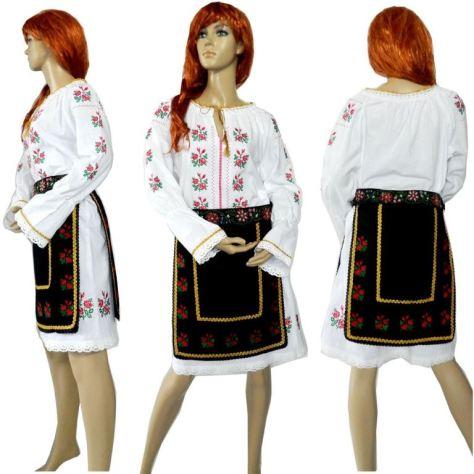 costum popular romanesc cu sort