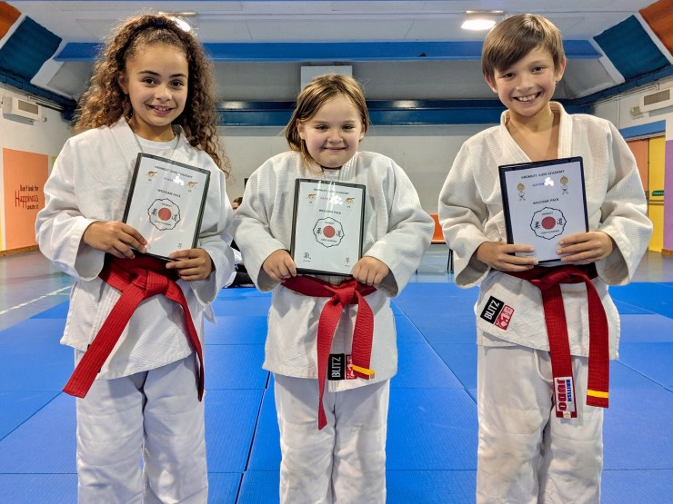 Bromley Judo Academy's judoka who have earned welcome packs