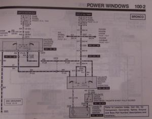 1991 tailgate wiring diagram  8096 Ford Bronco  6696
