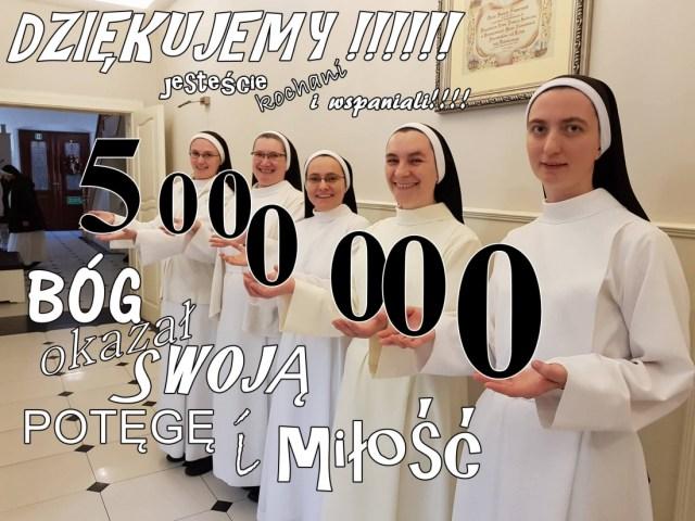 5.000.000 dzięki Dobroczyńcom