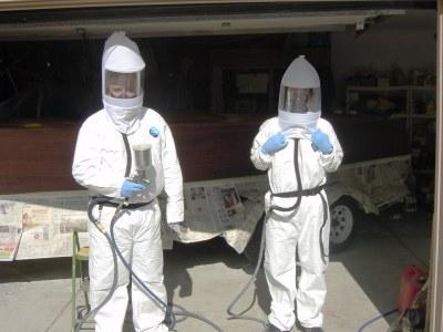 Spraying Imron