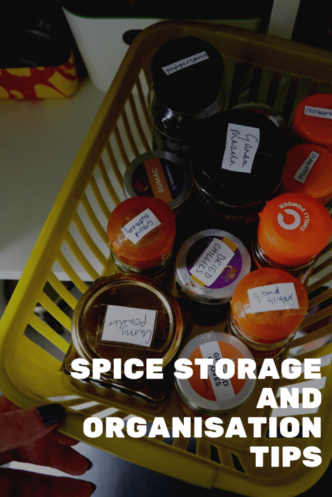 How to organise and store your herbs and spices. Avoid wasting food and cluttering your cupboards by following this method.