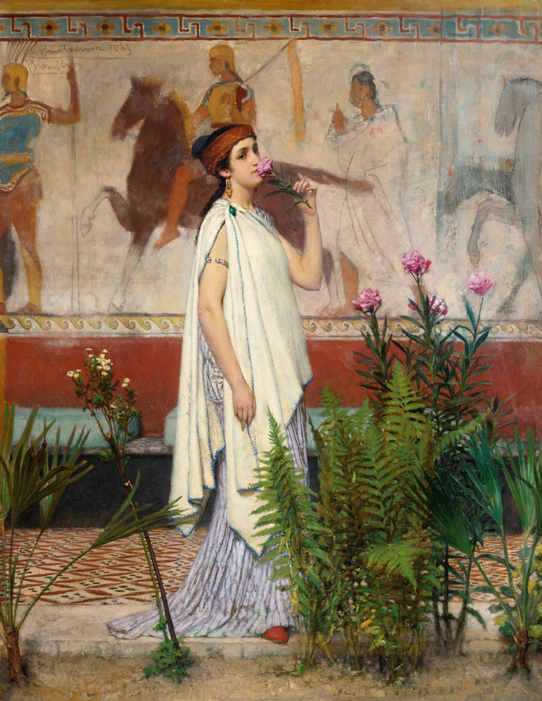 A Greek Woman by Sir Lawrence Alma-Tadema (1869)