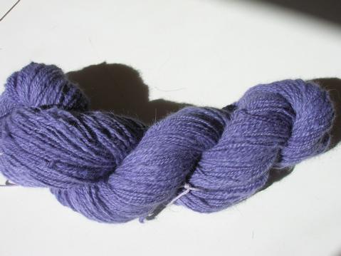 skein of handspun angora/merino