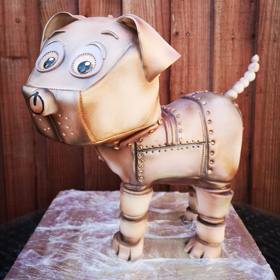 Gallery Cyber Pup Sculpted Cake
