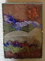 Summer Beach - fabric art