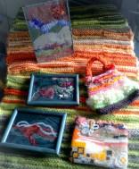 Selection of autumn toned art & craft