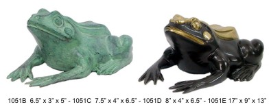 Bronze Frog Fountain/Statue