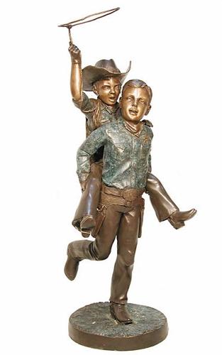 Bronze Cowboys Lasso