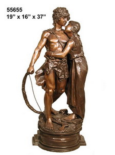 Bronze Lovers Statues