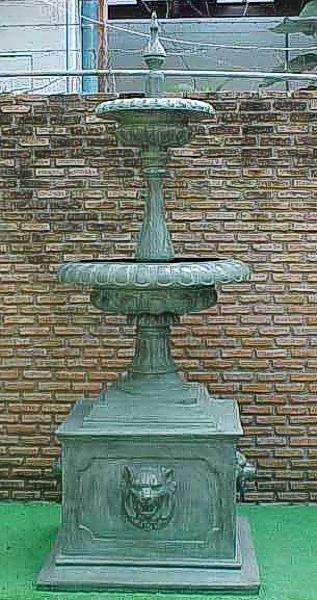 Bronze Lion Tiered Fountain