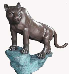 Bronze Big Cat Puma Statue