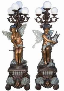 Bronze Torchiere Lamps