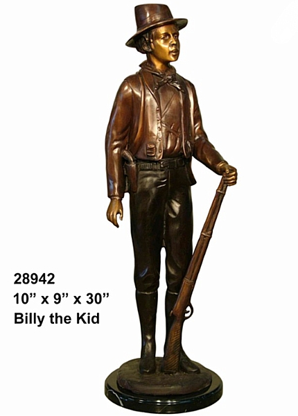 Bronze Billy the Kid Statue